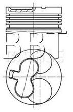 Piston+Rings, KS (KOLBENSCHMIDT) Original 94513600,Isuzu Gemini,Opel/Vaux 1.5D,76.02mm,626038, 8941298281,6290200,6343805