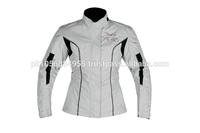 Ladies Armoured Waterproof Cordura Motorbike Jacket Pink,Fit,Full Zip CE