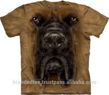 animal printed 3d t-shirt