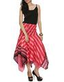 Jaipuria arte de seda saia, Senhoras mais recente projeto saia de midi, Senhoras do desenhador de moda saias