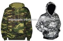 80/20% Cotton Polyester Blend Fleece Hoodie with Commando Design