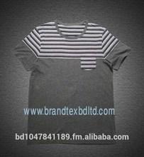 Custom cut and sew single jersey cotton fashionable latest T shirt