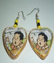 Heart Shaped cartoons design Earings