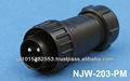 Nanaboshi njw série imperméable à l'eau connecteur circulaire ip67
