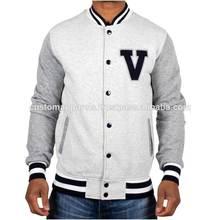 Collezione in alto di giacca di cotone per le ragazze, top di cotone pianura giacca varsity, custom varsity giacche a buon mercato