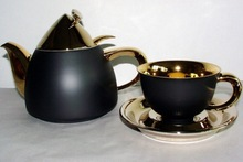 KELT Collection black and gold - Tea set