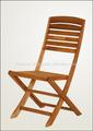 Chaise pliante, bois d'acacia, huile de finition