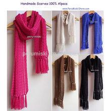 Handmade Scarves, Crochet in 100% Alpaca Yarn from Peru - Peru Miski