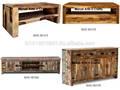Velho de madeira de teca reciclado móveis Bar