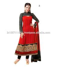 Velvet Suits Designs Anarkali Dresses