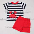 Lovely crab applique knit outfit KN24