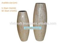 Lacca vaso in barra bianca conchiglia intarsiato per l'esportazione o all'ingrosso origine dal vietnam vaso decorativo