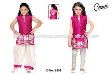 Patiyala Style Designer Girls Dresses ( 2 in one Fashion Girls Dress )