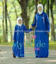 Fashion comfortable Mommy and Kids Islamic abaya dress for Middle East/Dubai/Muslim