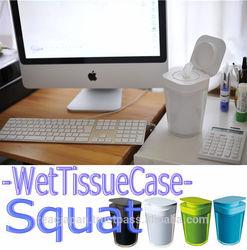 Squat Japanese wet tissue plastic hard case stylish design