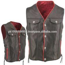 black gilet fishermans leather vest half jackets for men
