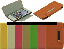 Colorful Book Flip Cover Style leather case for iPhone 6, iPhone 5 and iPhone 4 and for Samsung S5 and Note 3