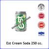 Est Cream Soda flavored carbonated soft drinks 250 cc