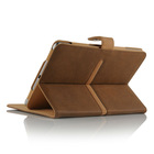 Brown Tan Suede Leather Wallet Flip Case Cover for The ipad 2 3 and 4 Full Sleep Wake Function ! Plus Screen Protector and stylu