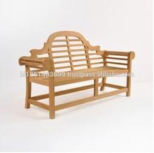 garden outdoor bench,teak wood bench,lutyens bench in teak