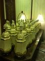 Laquer peinture sur céramique lampe de table pour hôtels, Maison d'hôtes, Resorts et décoration de la maison