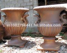 Rústico ollas de cobre( nuevo)- jardín jardineras urnas oscuro- arcilla florero- cerámica de vietnam fabricante proveedor&, exportador