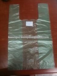 hdpe t-shirt plastic bag CLEAR PE MATERIAL SHOPPING PLASTIC BAGS T SHIRT BAGS