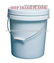 VIETNAM PLASTIC PAINT CONTAINERS WITH HANDLE, PAIL, 5L, 10L, 15L, 20L, FOOD SAFETY