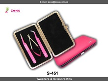 Eyelash Extension Tweezers & Scissors Kits From ZONA PAKISTAN