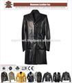 Hli oem службы кожаные пальто для женщин, высокое качество кожи длинное пальто для женщин
