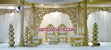 WEDDING WOODEN CARVED BACKDROPS