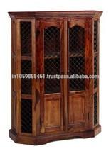 Jig-Jag Net Designed Wooden Almirah