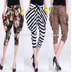 women harem pants,three quarter women harem pants,2015 fashion harem pants