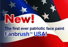 New! Fanbrush USA American flag face paint