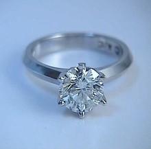 1.35ct Round Diamond Engagement Ring 18kt White Gold Fine Jewelry Any Shape Any Size Bridal Anniversary Birthday Gift