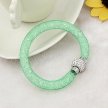 2015 fashion new design mesh stardust magnetic bracelet for women