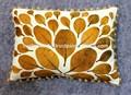 Tissu de velours de coton feuilles, thème housse de coussin de velours uni retour- 35 x 50 cms'il.