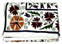 RTHBC-D10 Handmade Prismatic Modernistic Floral Uzbekistan Suzani Embroidery Designs Wholesale Manufacturers Jaipur