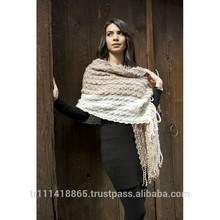 soft warm women knitted shawl