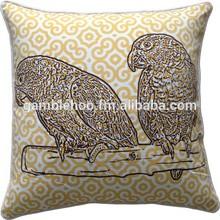 bird cushion cover,digital print pillow cover,Screen print cushion cover,decorative pillow