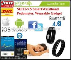 SIFIT-5.5 Smart Wristband Pedometer. Bluetooth 4.0.Sharing Data Smart Wristband Pedometer