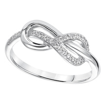 Fashion Infinity Symbol Ring Sterling Silver Infinity Knot Ring