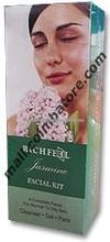 Richfeel Jasmine Facial Kit - Dminishes Stress Lines - 1kit