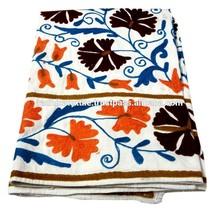 RTHBCA - D11 Handmade Royal Suzani Floral Bedspread Uzbekistan Suzani Embroidery Designs Manufacturers