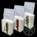 varias marcas de delicioso japonés koshihikari arroz de alta con los valores de la nutrición