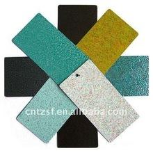 Metal panel powder coating