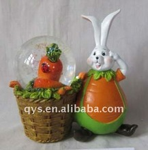easter decoration, bunny rabbit snow ball