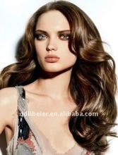 HOT SALE cheap density 150% ladies` human hair full lace wigs with top quality