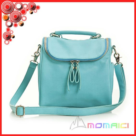 Light blue pu cute bags for girls