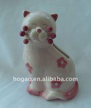 elegant cat ceramic saving box